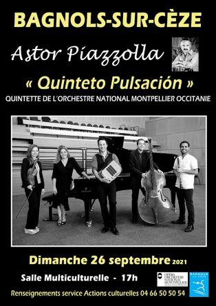 Concert : Astor Piazzolla - Quintette de l'Orchestre National de Montpellier Occitanie