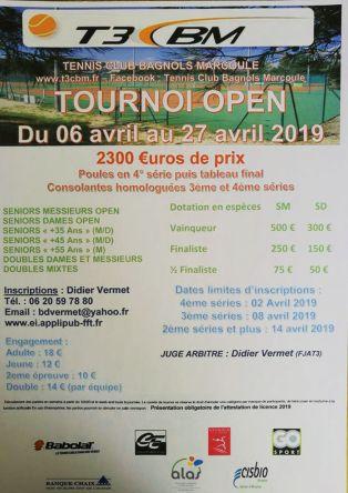 Tournois Open Tennis T3CBM
