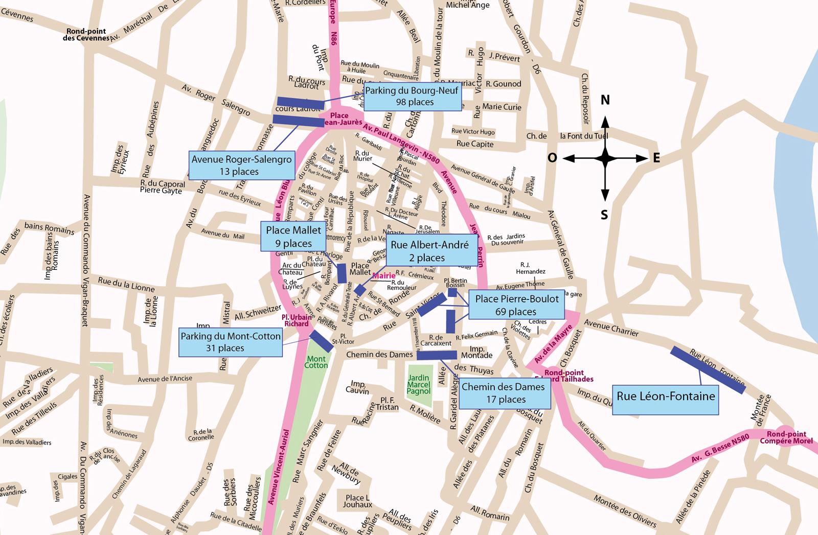 Plan zones bleues
