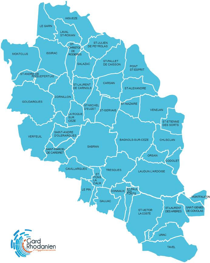 carte gard rhodanien