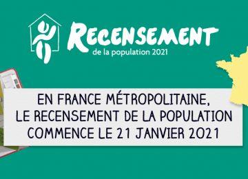 Informations recensement de la population 2021